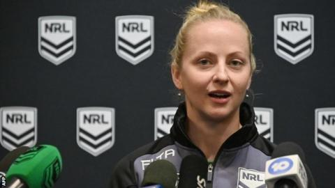 NRL official Belinda Sharpe
