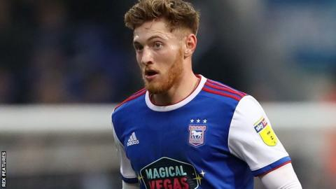 Teddy Bishop in action for Ipswich Town