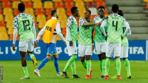Nigerian players at the Under-20 World Cup