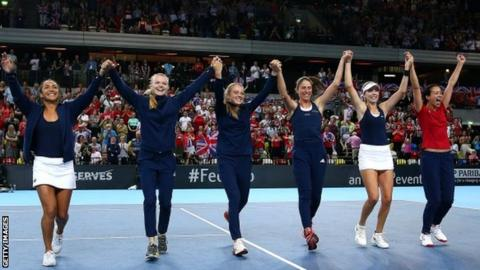 GB's Fed Cup team