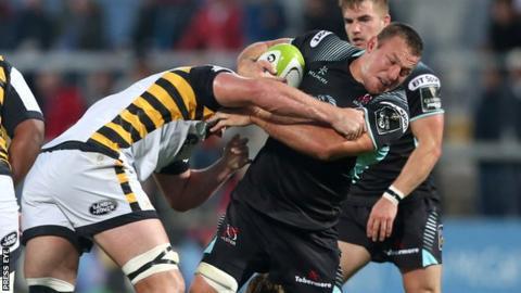 Ulster's Jean Deysel in action against Wasps in a pre-season friendly last week