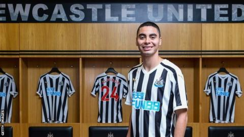 buy online 6877c 335cb Miguel Almiron: Newcastle United sign playmaker for club ...