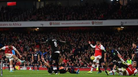Arsenal had a third goal controversially disallowed following VAR intervention in Sunday's 2-2 draw with Crystal Palace
