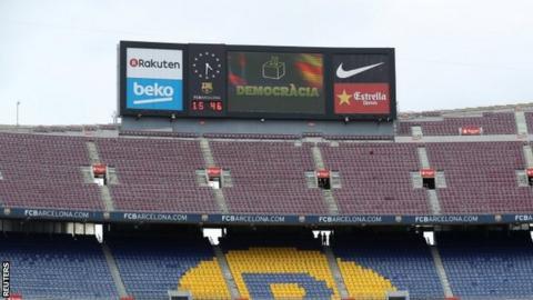 Nou Camp scoreboard