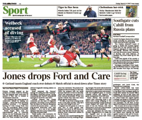 Times back page on Thursday
