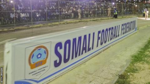 A Somali Football Federation sign