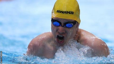 British swimmer Sascha Kindred OBE