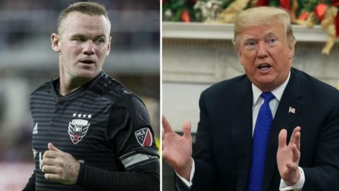 Wayne Rooney and Donald Trump