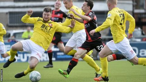 Portadown were beaten 2-1 by Crusaders in the league last Saturday