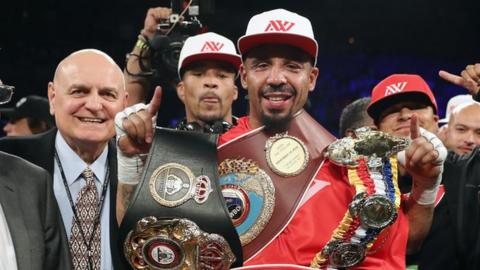 Ward retained his three light-heavyweight titles by stopping Sergey Kovalev