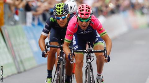 Diego Ulissi wins stage 11 of the Giro d'Italia