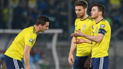 Kenny McLean, Stephen O'Donnell and Andy Robertson