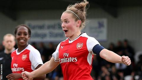 Arsenal's Kim Little celebrates