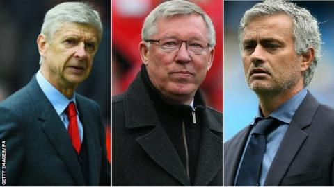 Arsene Wenger, Sir Alex Ferguson and Jose Mourinho