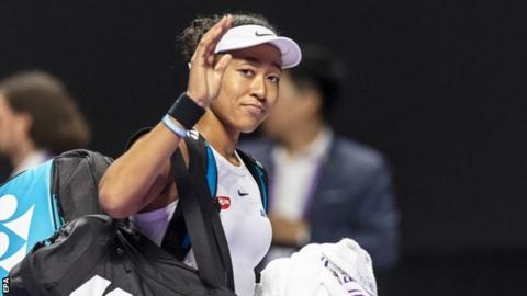 Osaka out of WTA Finals with injured right shoulder