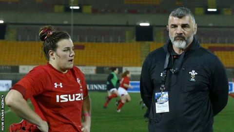 Rowland Phillips and daughter Carys who has won 51 caps for Wales