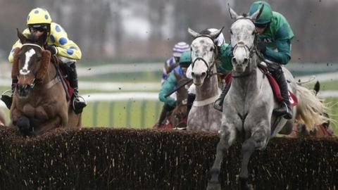 Bristol De Mai (right) wins at Haydock