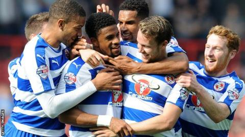 Garath McCleary is congratulated by his teammates