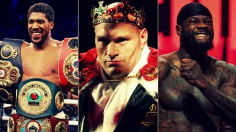 Football Joshua, Fury and Wilder