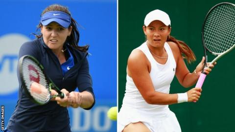 Laura Robson and Tara Moore