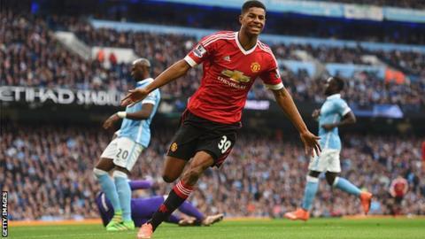 Manchester United forward Marcus Rashford