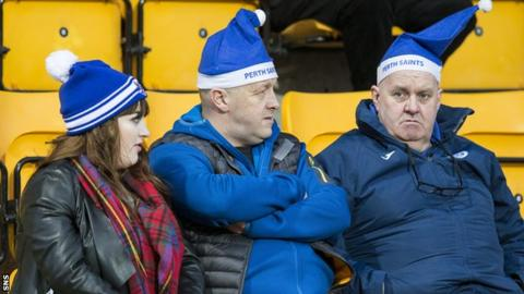 Bottom club St Johnstone's fans have little to smile about as the festive season looms