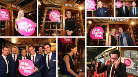 Some of the stars who got involved in last year's event
