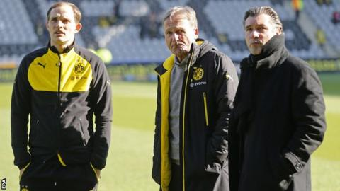 Thomas Tuchel, Hans-Joachim Watzke and Michael Zorc