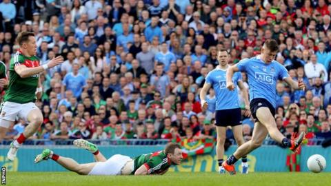 Con O'Callaghan scored Dublin's goal in the second minute at Croke Park