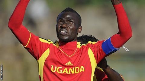 Uganda forward Emmanuel Okwi