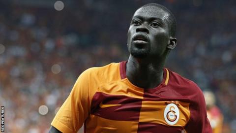 Badou Ndiaye playing for Galatasaray