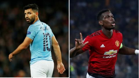 Sergio Aguero and Paul Pogba