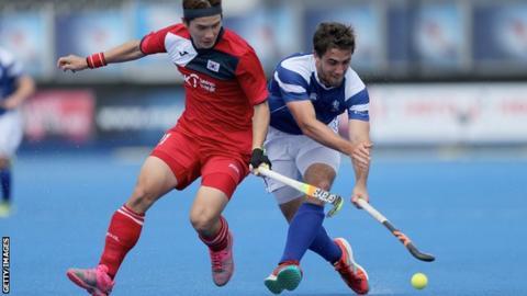 Tim Atkins scored Scotland's first goal before South Korea scored six in succession