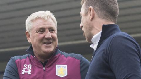 Steve Bruce last encountered Gary Rowett in last season's Birmingham City-Aston Villa derby at St Andrew's