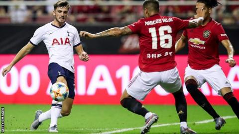 Troy Parrott made his first-team debut for Tottenham during their tour of Asia last month