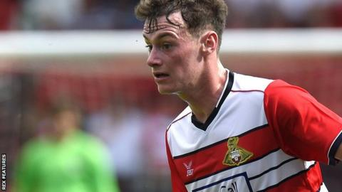 Liam Mandeville in action for Doncaster Rovers