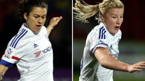 Karen Carney (left) and Beth England