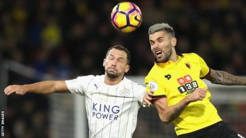 Danny Drinkwater challenges Watford's Valon Behrami