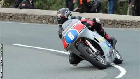 Dominic Herbertson competing in the Classic TT