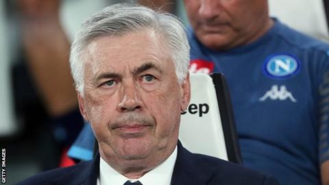 Napoli boss Carlo Ancelotti