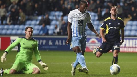 Marvin Sordell doubles Coventry City's lead against Oxford United