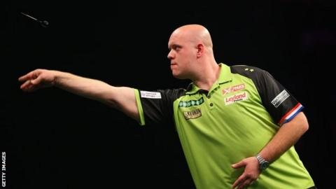 Michael van Gerwen has won more legs (103) than any other player in this year's Premier League Darts