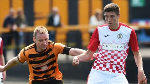 Ross Stewart (right) pictured playing for St Mirren in a pre-season friendly against Alloa