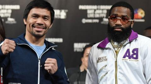 What time does the Manny Pacquiao vs. Adrien Broner fight start?
