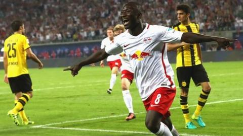 Naby Keita of Guinea and Red Bull Leipzig