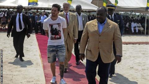 Lionel Messi visits Gabon