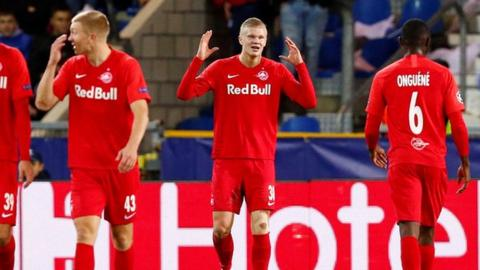 Haaland joins illustrious Champions League group after goal against Genk