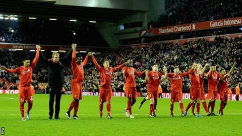 Klopp salutes the Kop