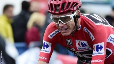5e4f5417f Vuelta a Espana  Chris Froome almost assured of win as Alberto ...
