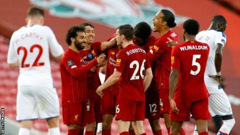 Technology Liverpool players celebrate